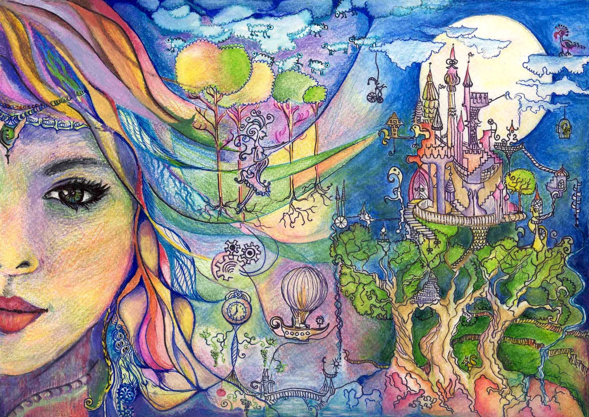 Dream Fairy Portrait Aquarelle Pencil And Markers With Images