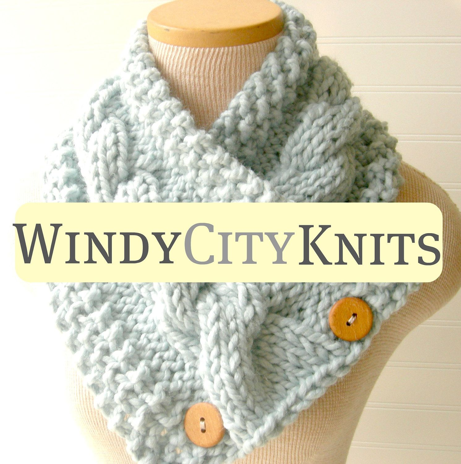 PDF PATTERN Knitted Scarf Pattern includes FREE pattern for Chunky ...