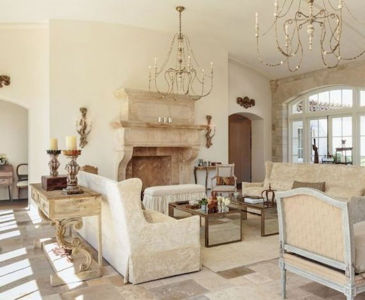 41 Beautiful French Country Living Room Decor Ideas