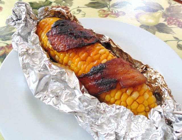 thats a Wrap ! Grilled Bacon-Wrapped Corn on the Cob ...