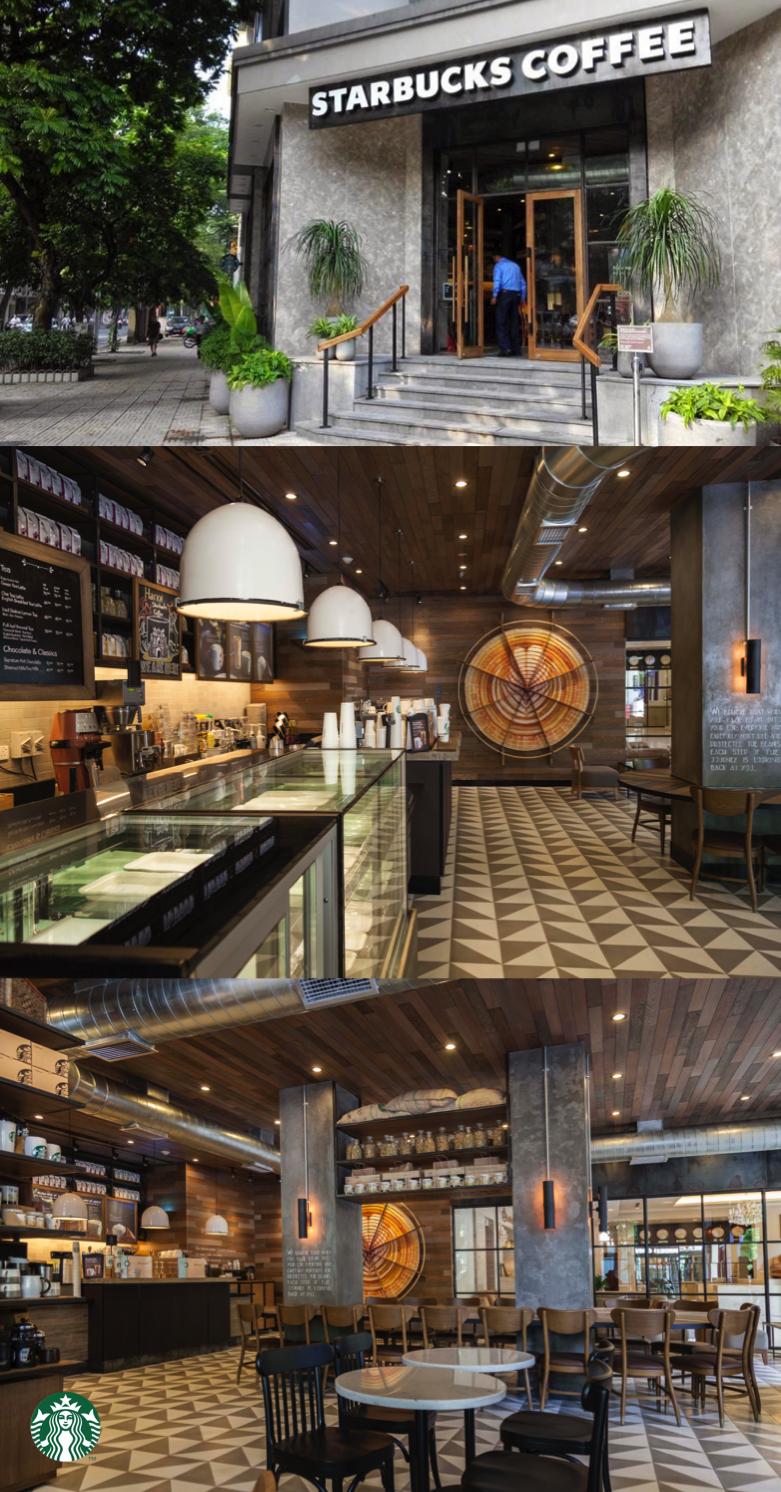This starbucks store located at the la vien hotel in for Design boutique hotel hanoi