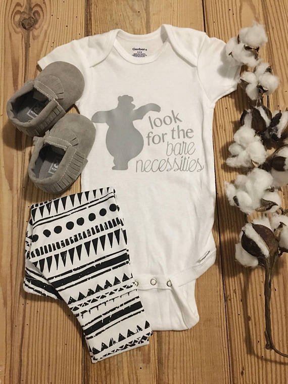 6a77d42b9 Jungle Book Onesie, Disney Onesie, Baby Disney, Baloo Onesie, Jungle Book,  Baby Onesie, Baby Boy One