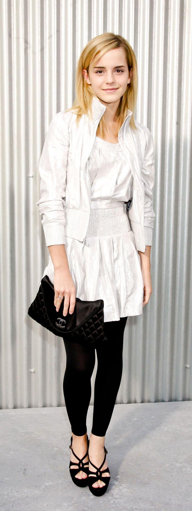 Emma Watson 2008 Chanel Fashion Show in Paris