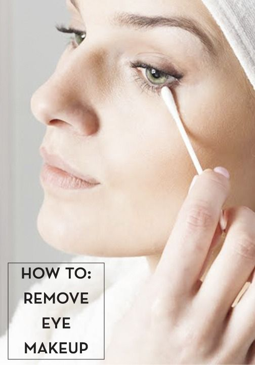Remove your eye makeup properly every night to keep pores and pillows clean!