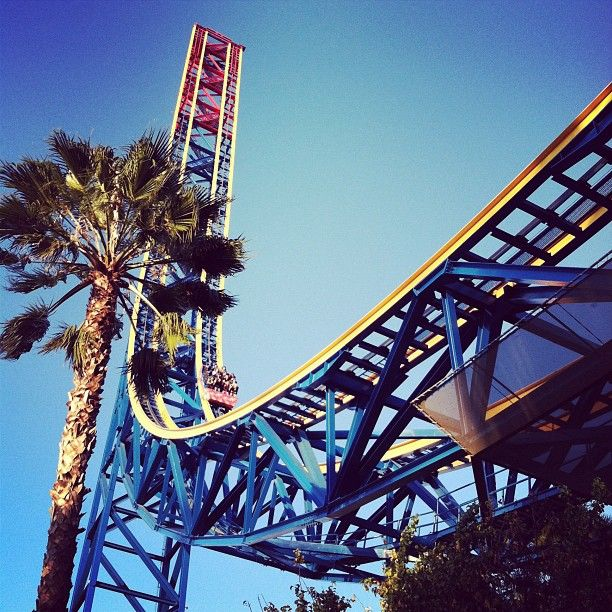 Superman Escape From Krypton Located At Six Flags Magic Mountain Roller Coaster Amusement Park Thrill Ride