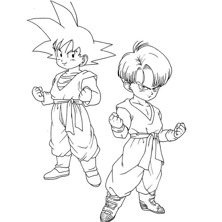 30 Coloriage Vegeta Facile Goku Desenho Goten E Trunks Dragon Ball