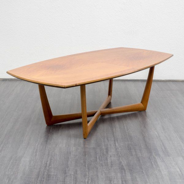 1960s coffee table, walnut - Karlsruhe