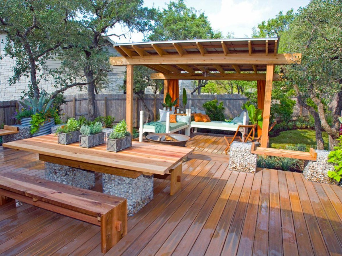 Bamboo gazebo deck plans - Image Result For Multi Level Patio Deck Plans W Detached Pergola