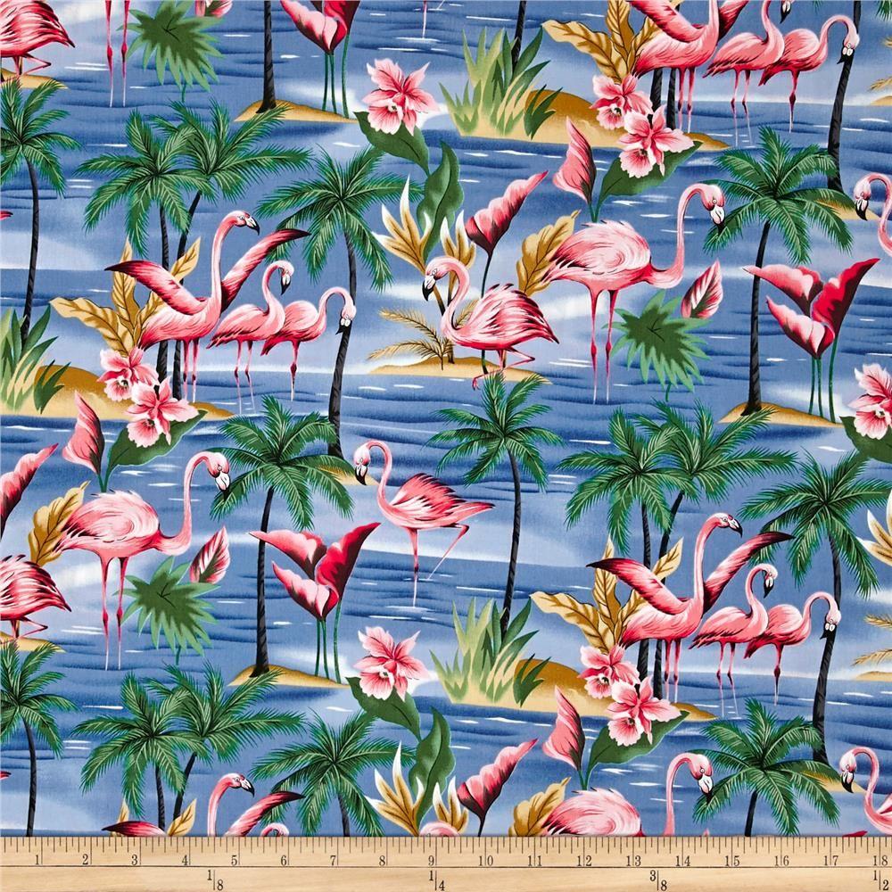 Hoffman Tropical Collection Flamingo Blue