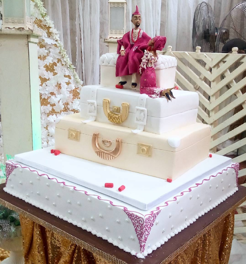 Traditional Nigerian Wedding Cake