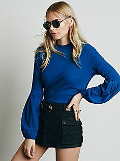 Structured Flounce Top