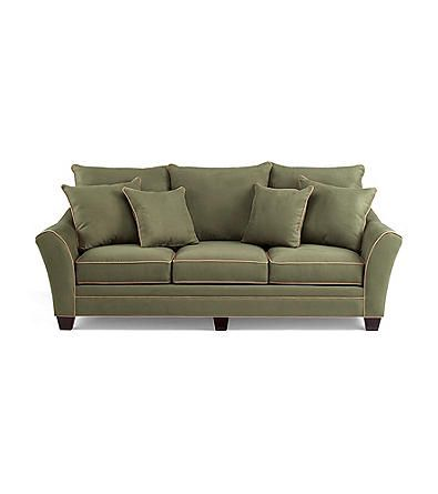 HM Richards Franklin Pine Microfiber Sofa | Bon-Ton