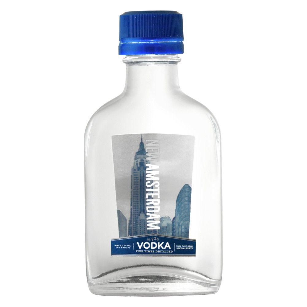 New Amsterdam Vodka 100ml Bottle Amsterdam Vodka Vodka Bottle