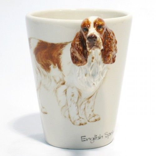 English Springer Spaniel Mug 00002 Ceramic 3d Dog Lover Handmade