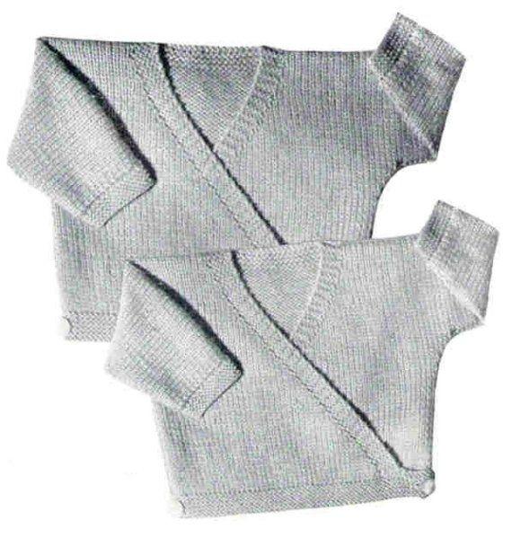 Cardigan Baby Cross Over Jacket 1950s Vintage Knitting Pattern pdf ...