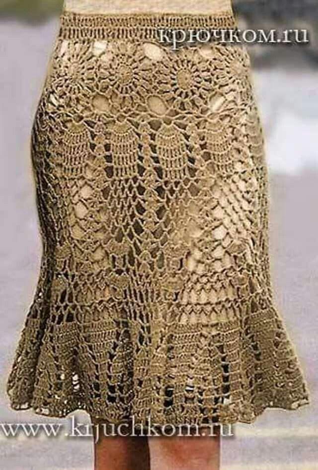 aa6f5b062 Resultado de imagen para faldas largas tejidas a crochet   vestidos ...