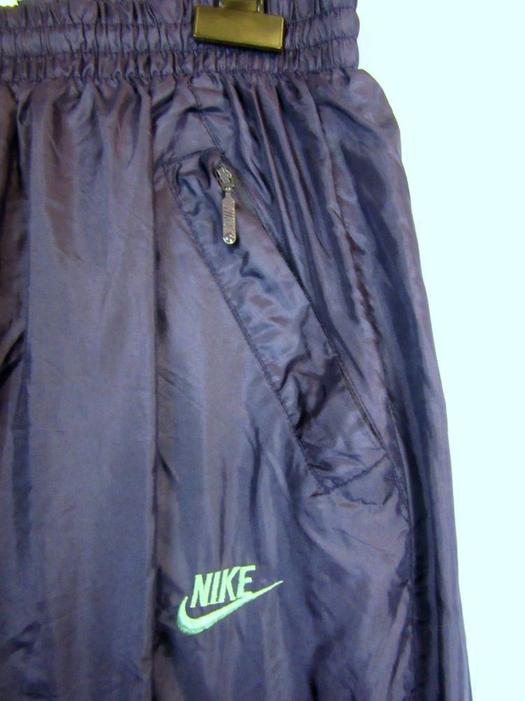 82c7212797bc24 NIKE blue SHELL TRACKSUIT BOTTOMS 80 s 90 s w42