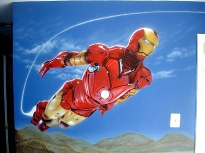 Iron Man themed bedroom wall For OurSons Room Pinterest Man