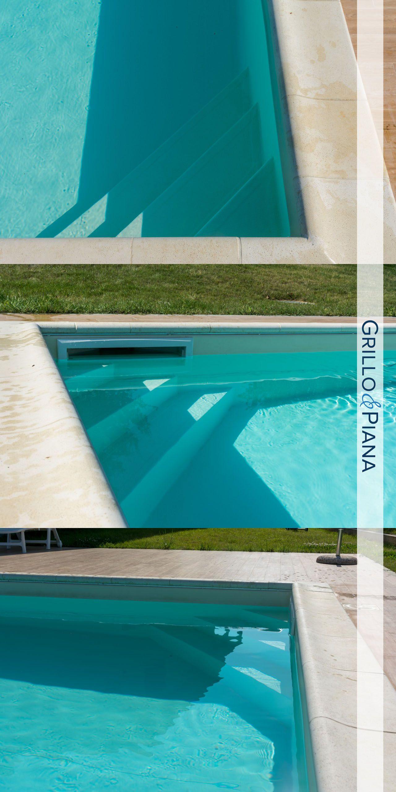 Pool Details Scala Ad Angolo In Piscina A Pannelli Rettangolare