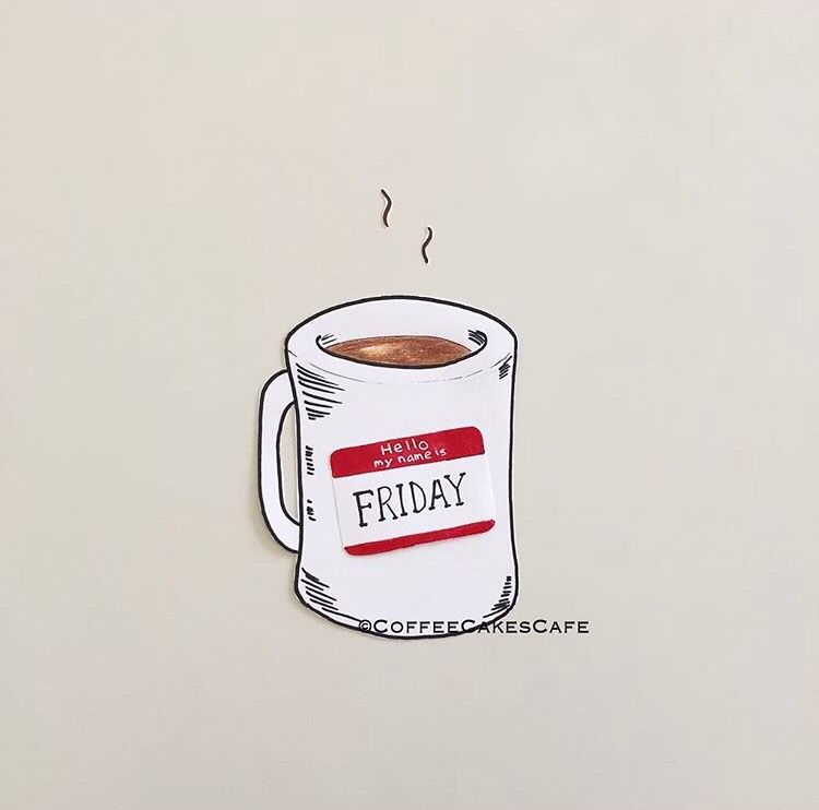 Image result for 8 AM coffee illustration