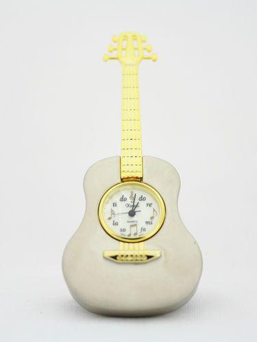 silver guitar timepiece