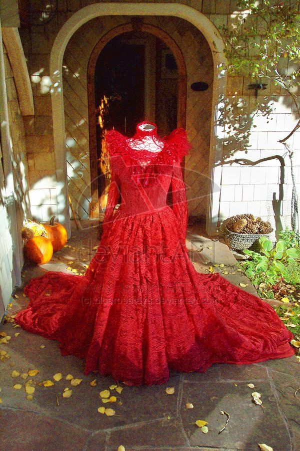 Lydia Deetz Red Gown REVAMPED by ~bluerosetayu on deviantART cosplay ...