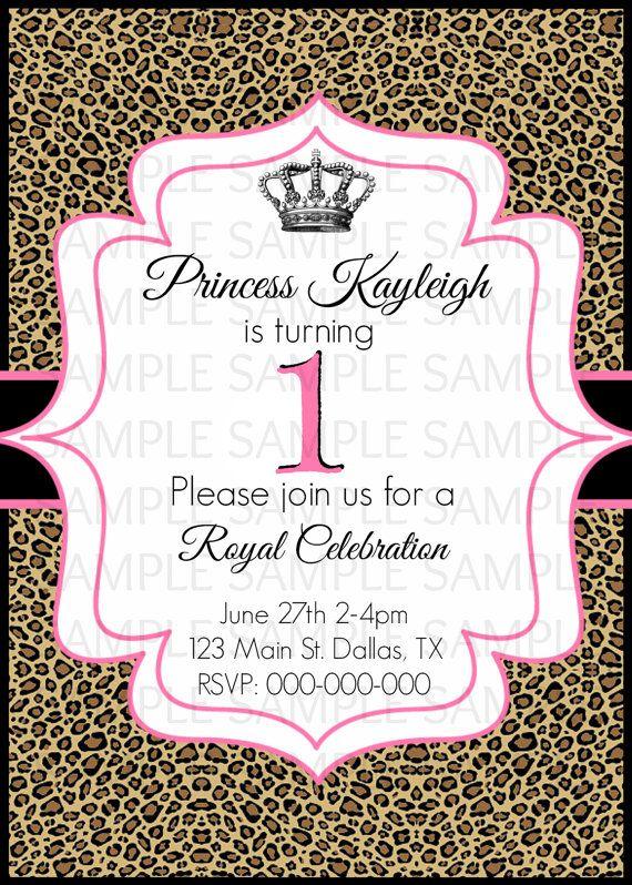 Cheetah leopard print princess first 1st birthday sweet sixteen cheetah leopard print princess first 1st birthday sweet sixteen baby shower invitation on etsy 800 filmwisefo
