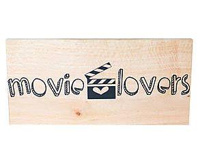 Placa decorativa movie lovers nuit - 25,5x12cm
