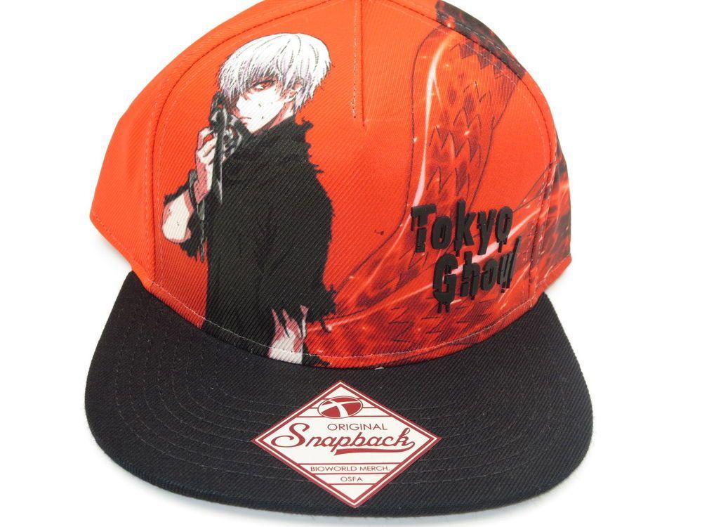 Tokyo Ghoul Anime Red Bioworld Snapback Hat  Bioworld  BaseballCap ... d91b3f976f1