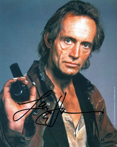 Ah, Lance Henriksen. Probably one of my most endearing faces and voice to match. Favourite role is, naturally, Bishop in 'Aliens'. He's got a heart of gold and the best scene in the movie. Classically plays so many villains of the evil eyed intensity in an uncountable amount of B movies, but also gets roles as usually an earnest or good souled person. This pic is from one of my all time fav vampire films, Near Dark. Jesse, the vampire, does not sparkle, ladies.