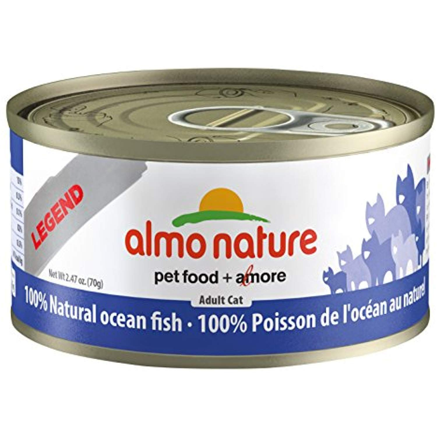 Almo Nature Hqs Legend Natural Cat Oceanic Fish 24 Pack Of 2 47 Oz 70g Cans You Can Find Out More Details At The Canned Cat Food Cat Food Canned Dog Food