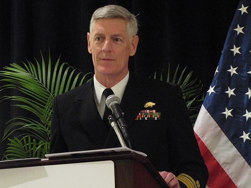 Rear Adm Christopher Mossey, PE, CEC, USN, the US Navy Chief of