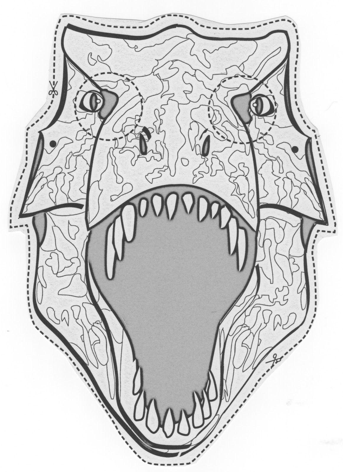 Mascara+Dinosaurios.jpeg (1162×1600)   manualidades   Pinterest ...