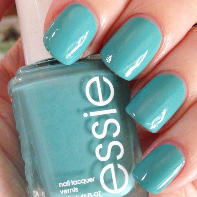 Essie Where\'s My Chauffeur? teal blue nail polish / lacquer ...
