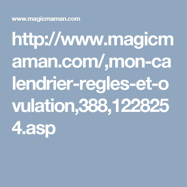 Calendrier Ovulation Magicmaman.Calendrier Dates De Regles Et Periode D Ovulation