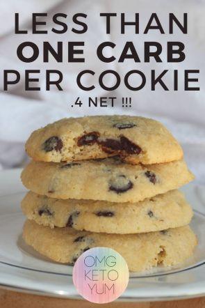 Keto Chocolate Chip Cookies #cookiesalad