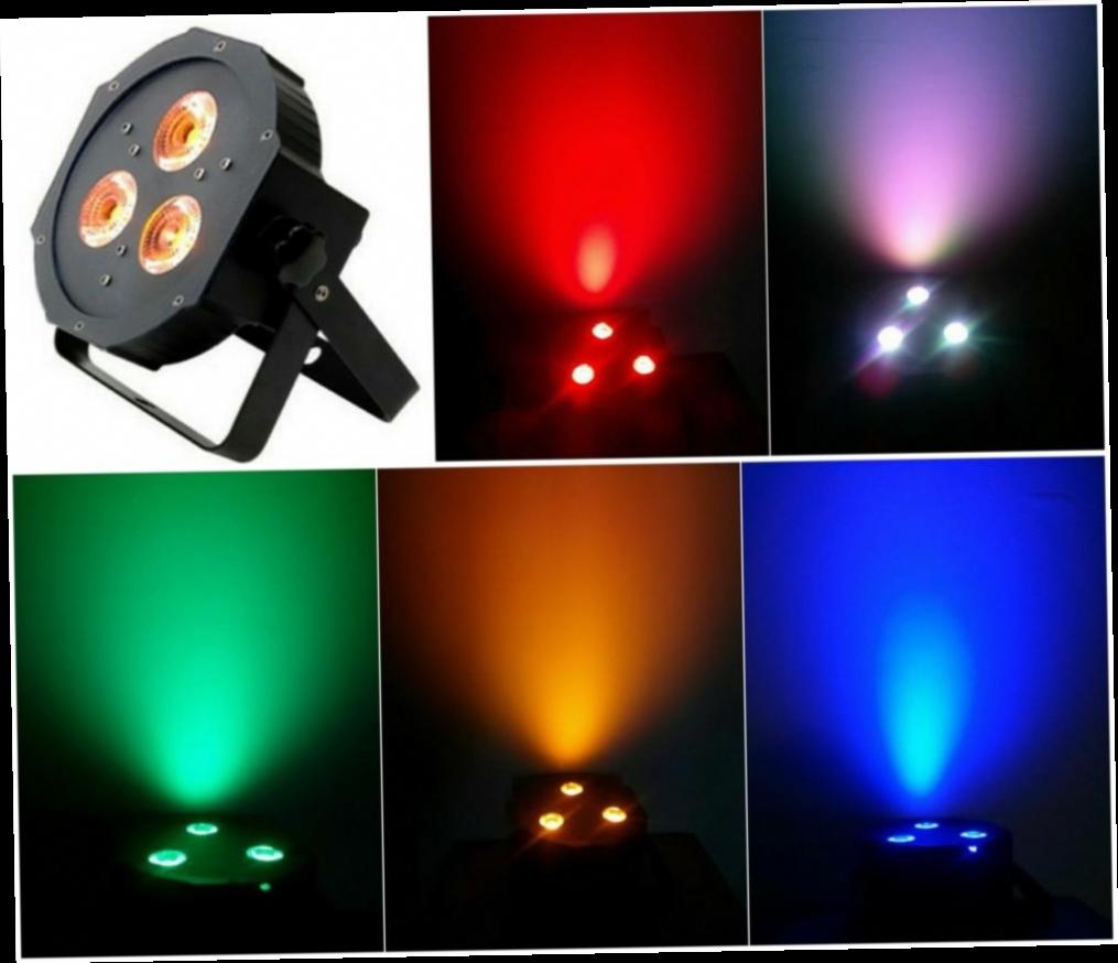418.77$  Buy here - http://ali3l6.worldwells.pw/go.php?t=32398183872 - 10pcs/Lot, ADJ LED par flat 3x15W RGBAW Tint 5in1 rgbw par38 Light Disco Stage ktv dj party wedding nightclub concert lights