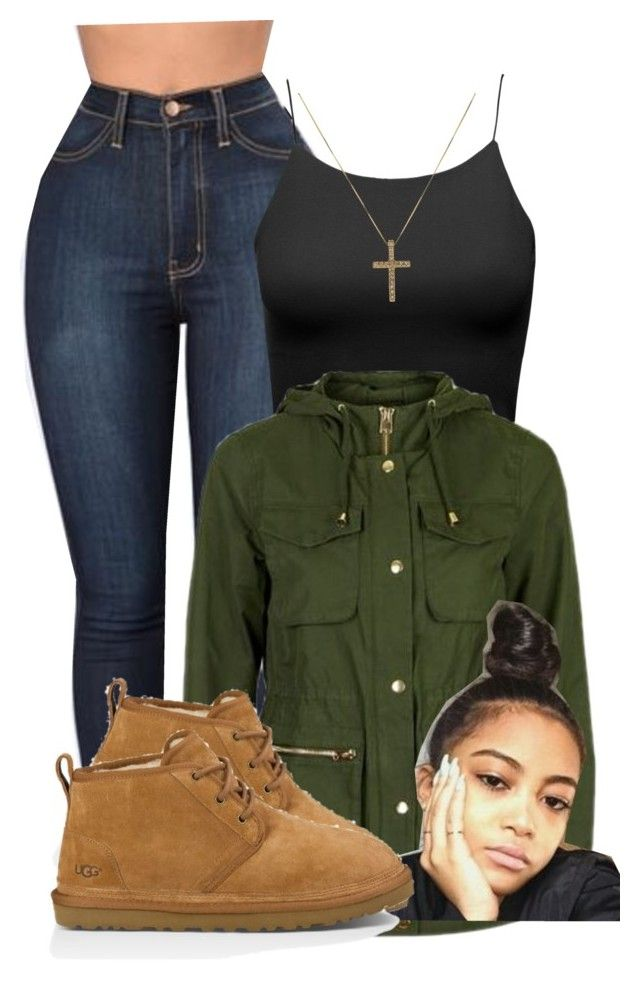 Girls can wear man UGGs by raquelregina ❤ liked on Polyvore featuring  Topshop and UGG Australia 402a6f93a
