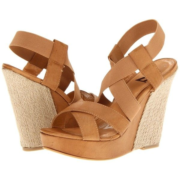 Type Z Sina Women's Wedge Shoes, Beige ($15) ❤ liked on Polyvore