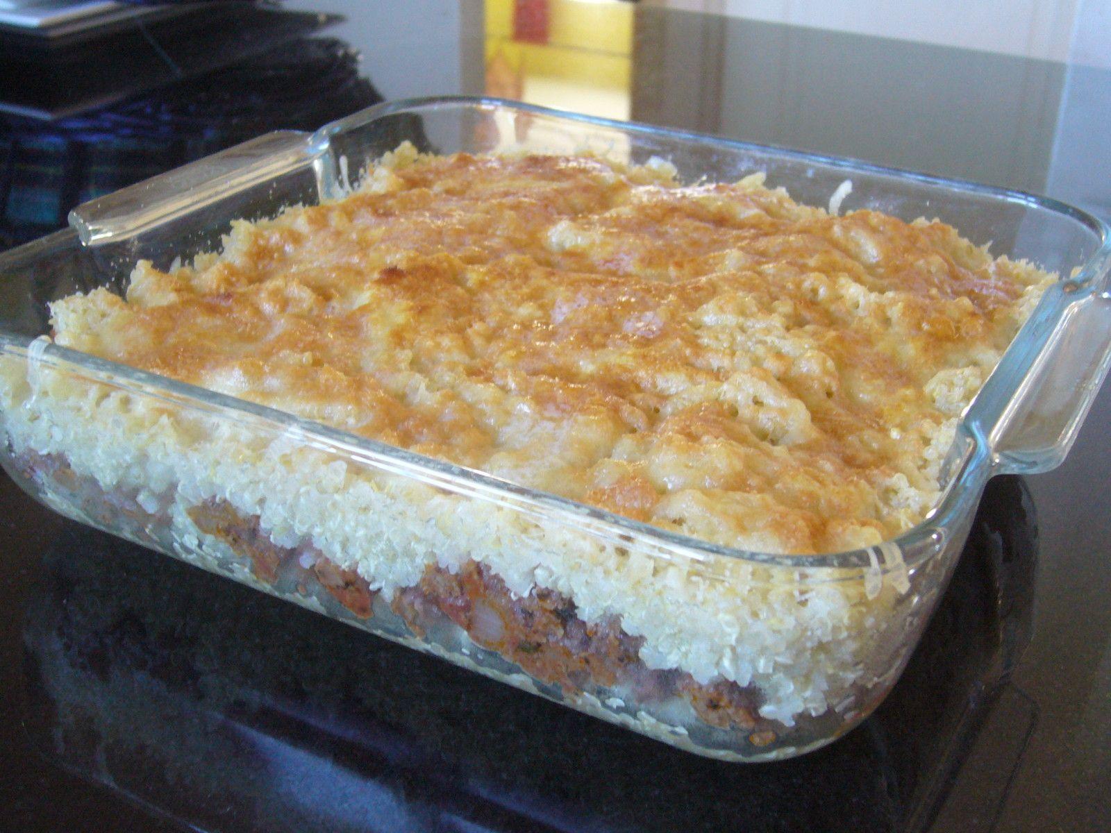 Gratin de quinoa au boeuf haché - 1, 2, 3, 4 filles aux fourneaux