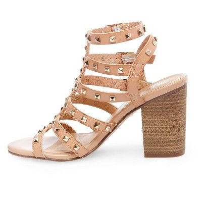 aea97cfd6167 Women s Becky Studded Strappy Heel Gladiator Sandals Mossimo - Tan ...
