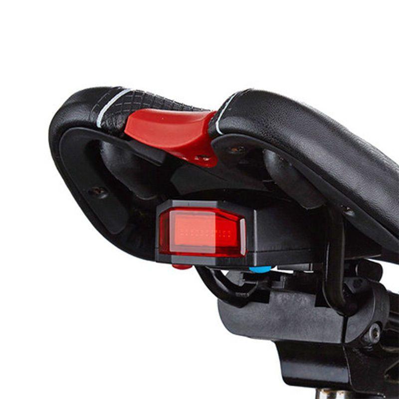 3 In 1 Fahrradalarmanlage Alarmschloss Fahrrad Lampe Rucklicht Leuchte Licht Remote Control Bicycle Bike