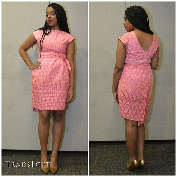 Pink Wrap Dress african print #Africanfashion #AfricanWeddings #Africanprints #Ethnicprints #Africanwomen #africanTradition #AfricanArt #AfricanStyle #AfricanBeads #Gele #Kente #Ankara #Nigerianfashion #Ghanaianfashion #Kenyanfashion #Burundifashion #senegalesefashion #Swahilifashion DKK