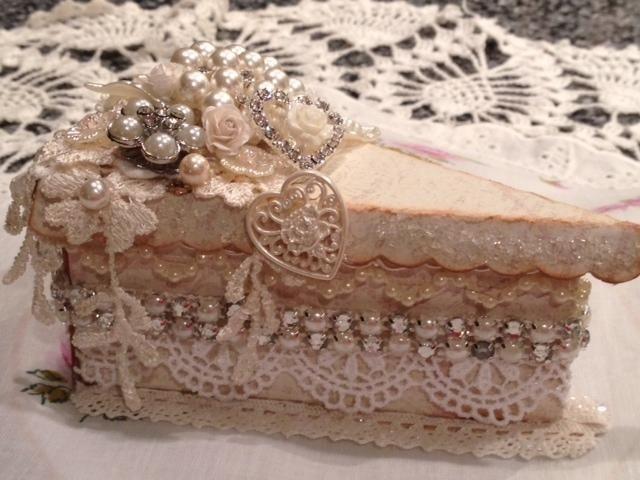 Bling Cake Slice Box Wedding Cake Slice Boxes Bling