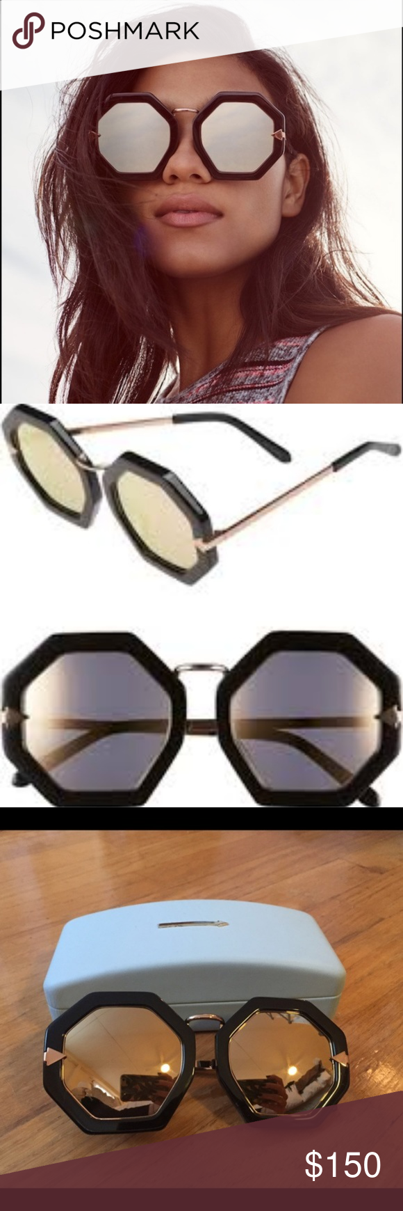 858e71b99f4 Karen Walker Moon Disco Rose Gold Superstars Sun Karen Walker s Moon Disco  Superstars sunglasses are handcrafted
