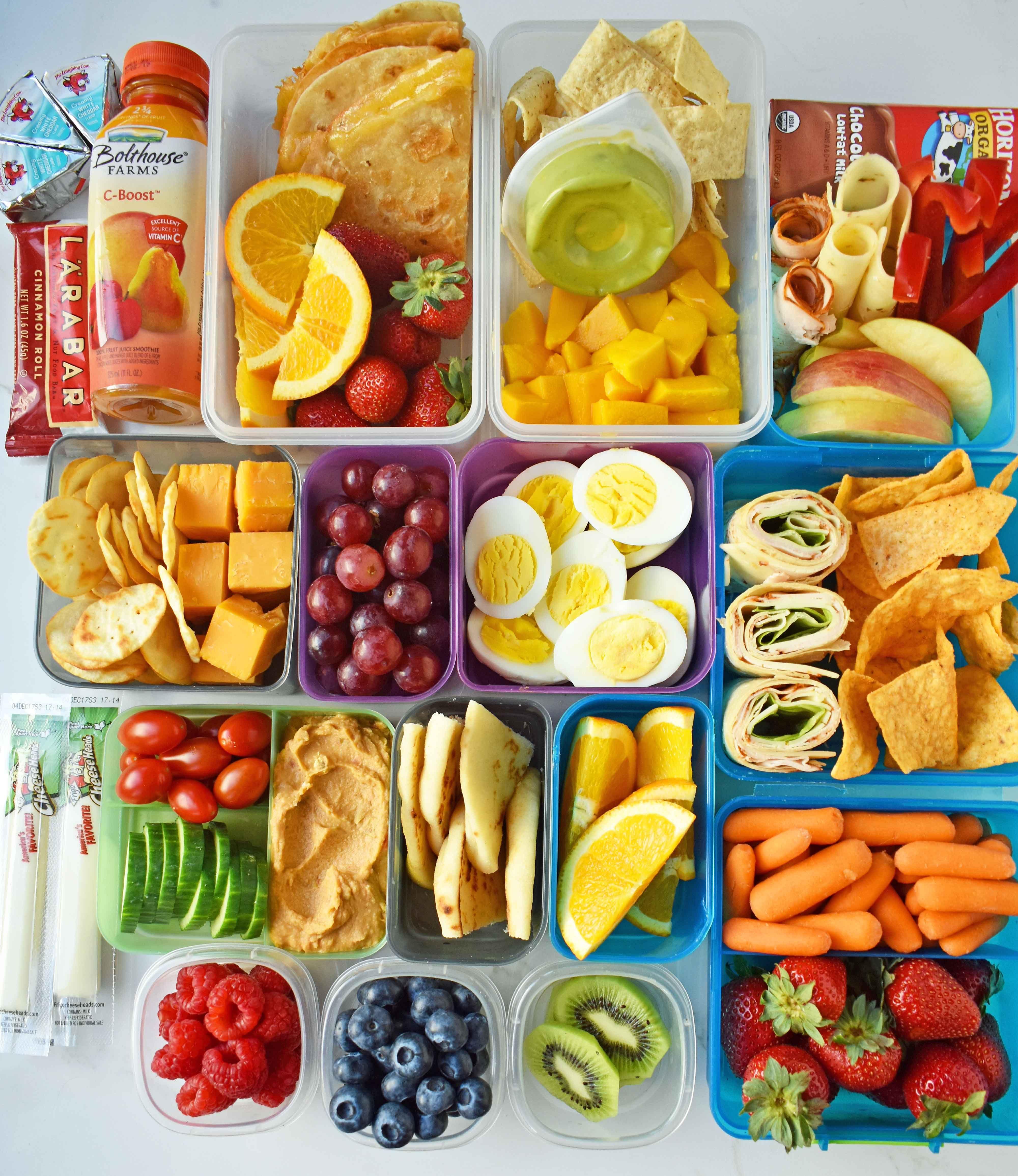 Back to school kids lunch ideas a list of foods snacks