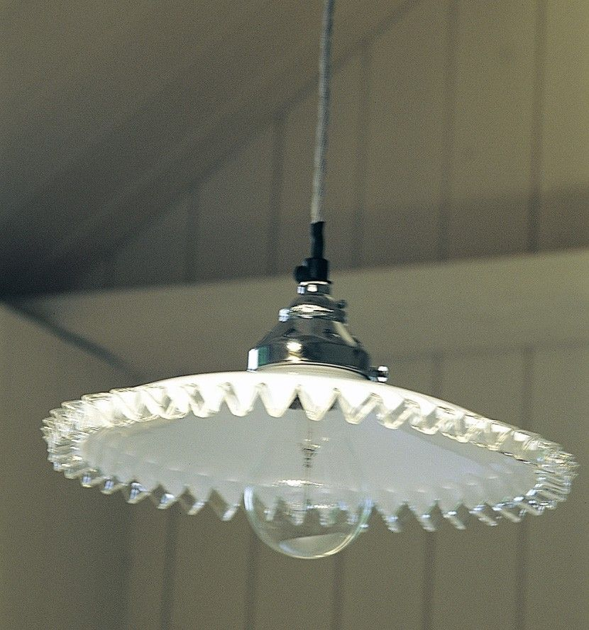 Antique French Crinkle Edged Pendant Lighting French Antiques