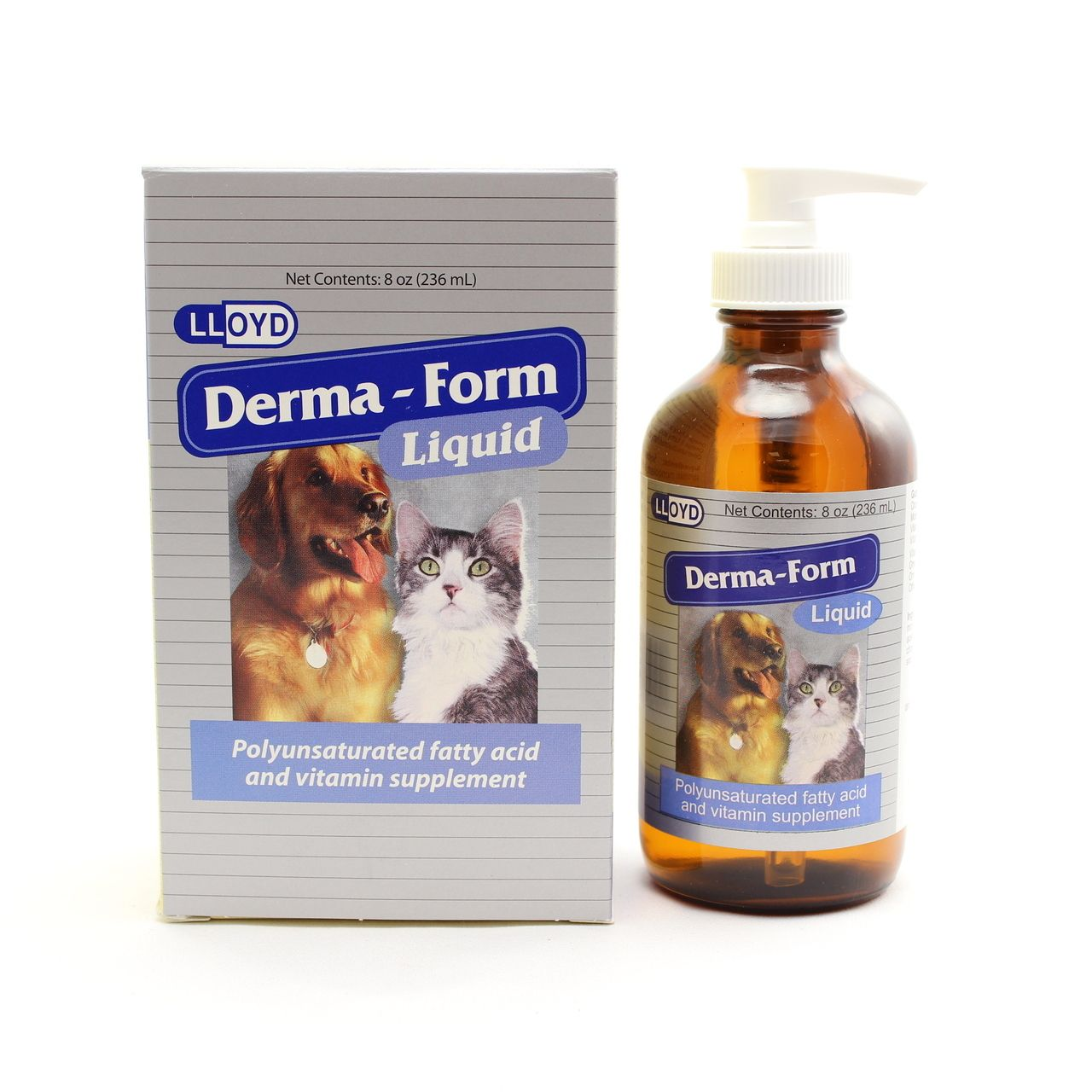 DermaForm Liquid for Dogs & Cats (8 oz) Dogs, Dog