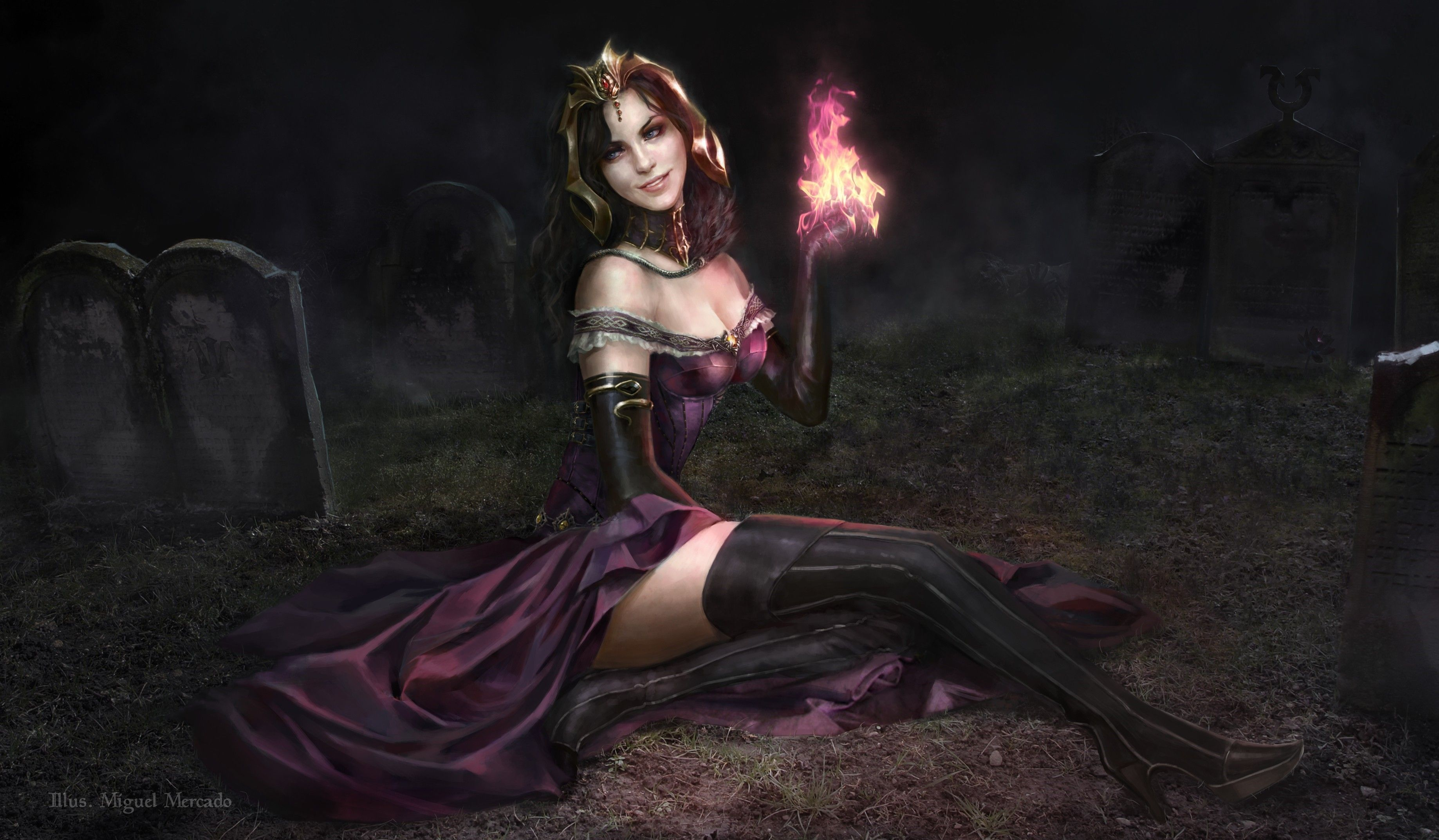 Artwork Fantasy Art Magic The Gathering Liliana Vess
