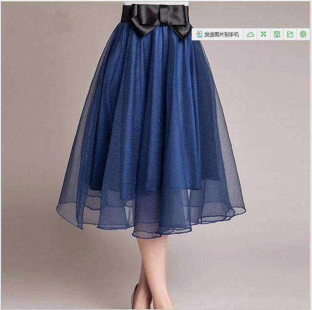 fda7aca1a8ec New 2018 Summer Women Skirts Elegant Casual Fashion Skirt Soli High Waist  Korean Style Female Skirt Spring Plus Size Midi Skirt